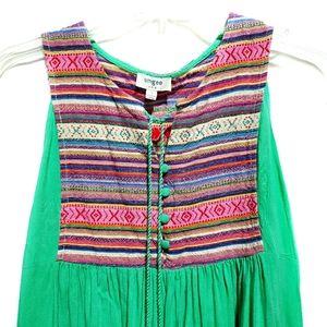 Umgee Boho Peasant sleeveless dress SZ Sma…